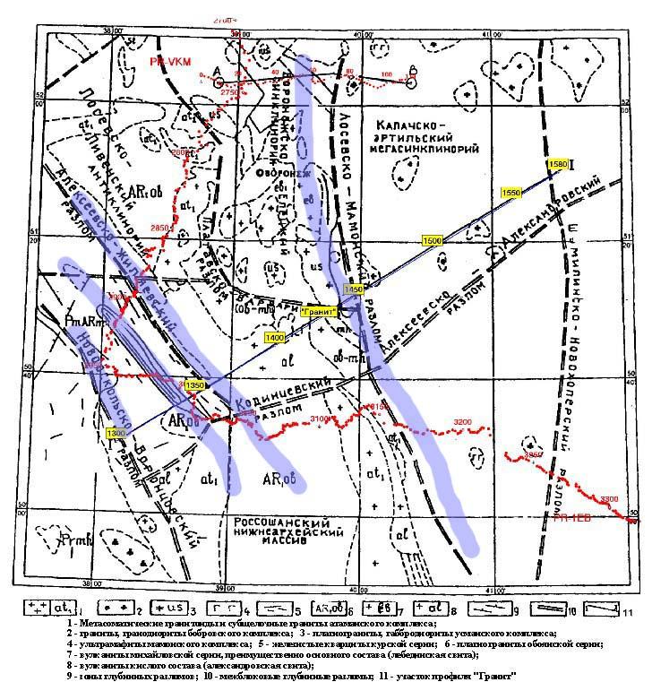 воронежская антеклиза карта